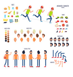 Character set with body parts and rest things vector