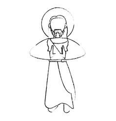 Jesus christ devotion sacrifice skecth vector