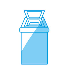 trash can isolated vector image