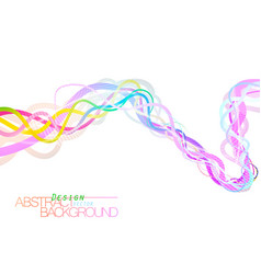 Abstract colorful flow on a white vector