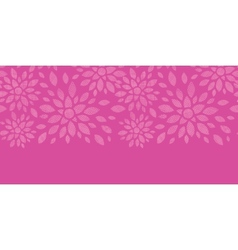 Abstract textile flowers pink horizontal seamless vector