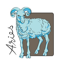 aries sign vector image