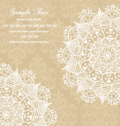 Vintage damask wedding card vector