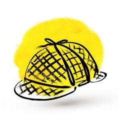 Detective hat vector image