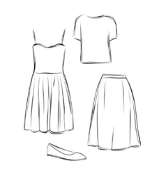 Clothes set vector
