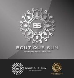 Boutique hotel and spa logo design vector
