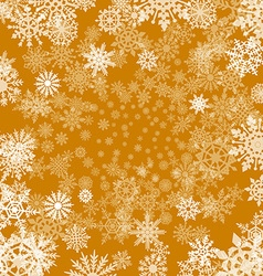 Christmas background with snowflakes cut out of vector