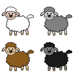 Lambs color vector