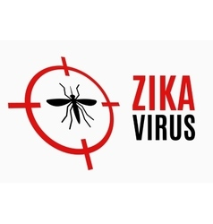Zika virus alert target mosquito vector image