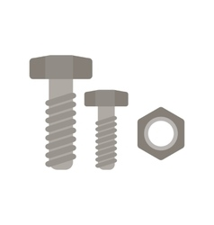 Nut and bolt vector