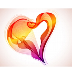 abstract color heart vector image vector image