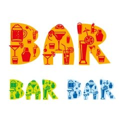 Bar drinks sign vector