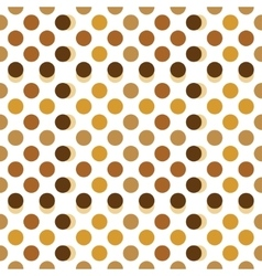 Beige brown and gold polka dots vector