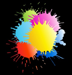 colorful paint splashes vector image vector image
