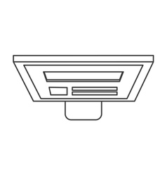 Computer monitor topview icon vector