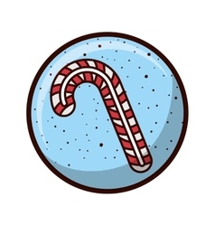 Crystal sphere with candy cane vector