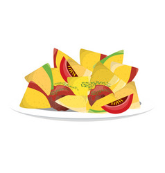 Delicious nachos mexican food vector