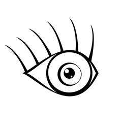 eye icon on white background vector image vector image