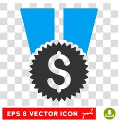Financial medal eps icon vector