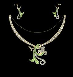 Jewelery with stones vector
