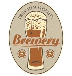 Label for the brewery vector