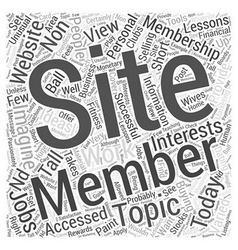 Membership sites today word cloud concept vector