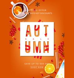 Orange beautiful flyer for autumn sale vector