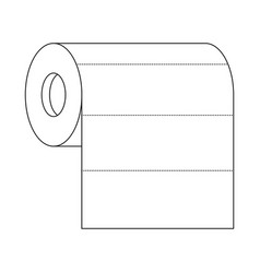 roll paper towel in monochrome silhouette vector image vector image
