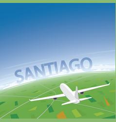 Santiago flight destination vector