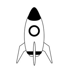 Space rocket icon image vector