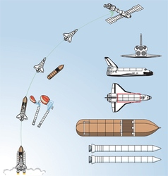 Space Shuttle vector image vector image