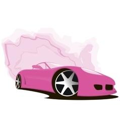 Sports pink car vector image