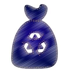 Trash bag icon vector image vector image