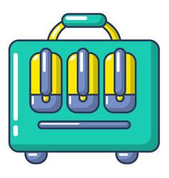 travel bag design icon cartoon style vector image