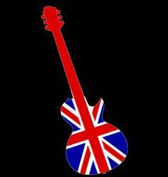 UK guitar vector image