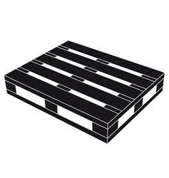 Wooden pallet black symbol vector
