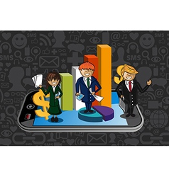 Work Group Business chart App vector image vector image