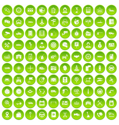 100 auto service center icons set green circle vector