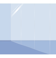 glass wall vector image