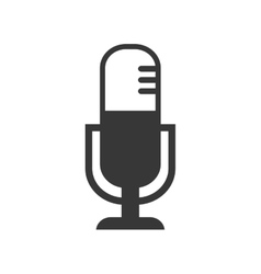 Microphone music sound silhouette icon vector