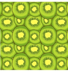 Kiwi fruit seamless pattern vector