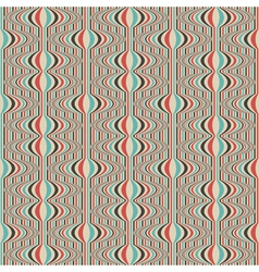 striped retro wallpaper vector image