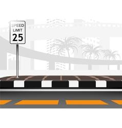 Traffic city vector image