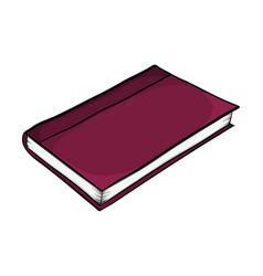 closed book cartoon symbol icon design beautiful vector image
