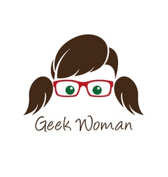 Geek woman vector