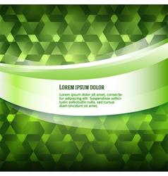 New product label green glowing background vector