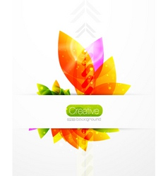creative leaves vector image
