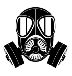 gas mask black and white 03 vector image