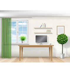 Interior room with work table380x400 vector