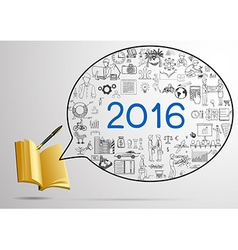 2016 a year plan design vector